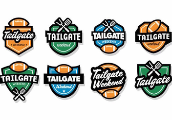 Free Tailgate Badges Vector - Free vector #388989