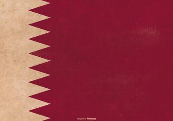 Grunge Flag of Qatar - Free vector #389089