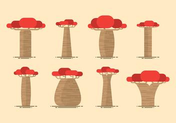 Baobab Flat Vector - vector #389179 gratis