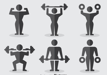 Squat Icons Collection - vector gratuit #389189