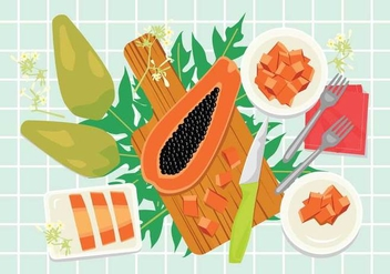 Free Papaya Illustration - бесплатный vector #389229