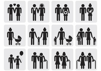 Free Family Icons Vector - Kostenloses vector #389279