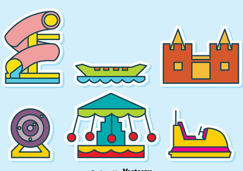 Carnival Playground Collection vector - vector #389549 gratis