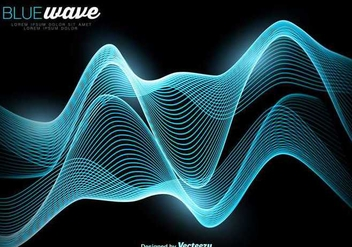 Vector Abstract Blue Wave Background - Free vector #389629