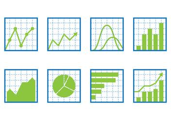 Chart Icon Set - Free vector #389919