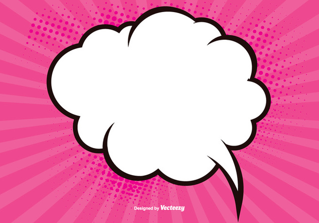 Pink Blank Comic Background - Free vector #389929