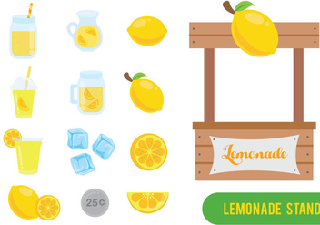 Free Lemonade Stand Vector - Free vector #390009