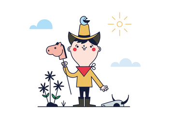 Free Little Cowboy Vector - Free vector #390299