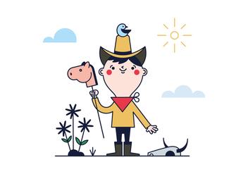 Free Little Cowboy Vector - Kostenloses vector #390299