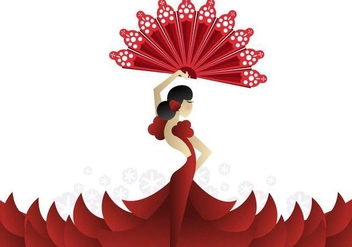 Spanish Fan Background Vector - vector #390459 gratis
