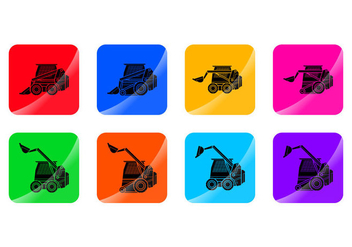 Free Skid Steer Icon Vector - Free vector #390679