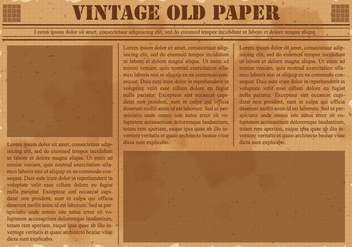 Old Vintage Newspaper - Kostenloses vector #390809
