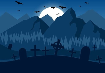 Free Spooky Vector Halloween Night - Free vector #390889