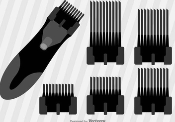 Flat Hair Clippers Vector Icons - Kostenloses vector #390929