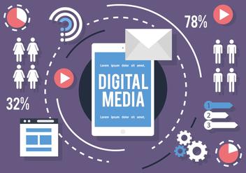 Social Media Infography Vector - Kostenloses vector #391009