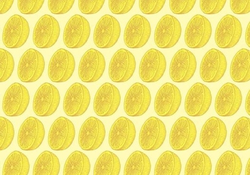 Yellow Lemon Pattern - vector #391099 gratis