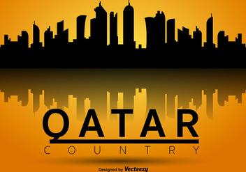 Qatar Vector Silhouette Skyline - vector gratuit #391119