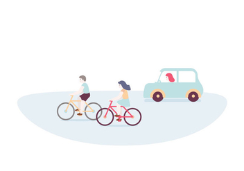 Cycling Driving Illustration - бесплатный vector #391129