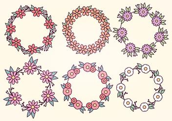 Vector Floral Wreaths - Kostenloses vector #391249