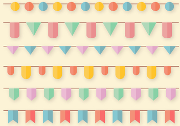 Free Garlands Vector - бесплатный vector #391269