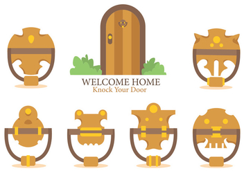 Welcome Home And Knock Your Door Vector - Free vector #391419