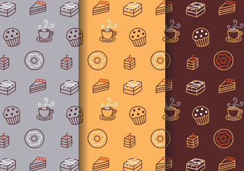 Free Bakery Pattern Vector - Free vector #391439