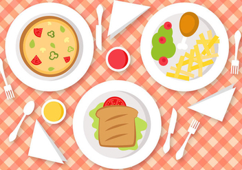 Free Lunch Vector - vector gratuit #391479