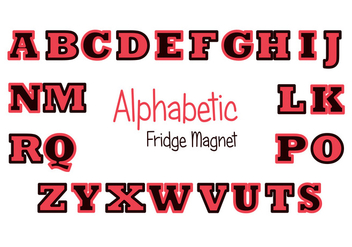 Red and Black Fridge Magnet Vector Set - vector gratuit #391559