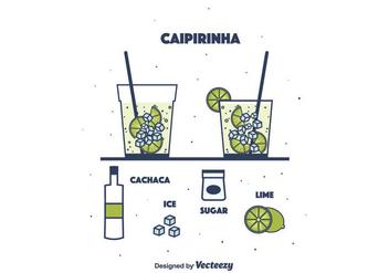 Caipirinha Vector - vector gratuit #391639