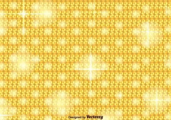 Golden Sequin Vector Background - vector gratuit #391709