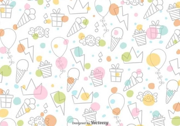 Cartoon Sweets Vector Pattern - Free vector #391749