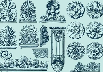 Acanthus Sculptures - Free vector #391769