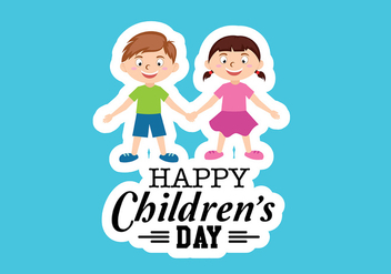 Happy Children Day Vector - бесплатный vector #391919