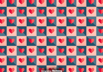 Vector Tiled Pattern With Paper Hearts - vector gratuit #391969
