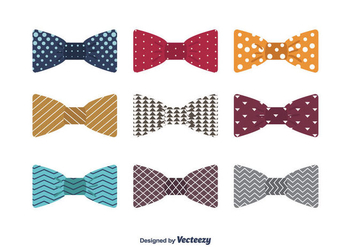 Bow Ties Vector - vector #392089 gratis