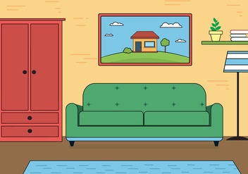 Free Living Room Vector - Free vector #392109