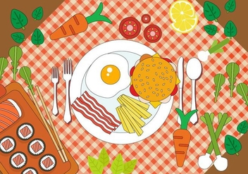 Free Dinner Vector Design - vector gratuit #392119