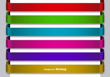 Set Of 6 Metallic Colorful Blank Banners - Free vector #392149