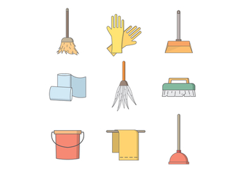 Free Cleaning Tools Vector - Free vector #392169