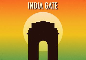 Free Retro India Gate Vector Illustration - Kostenloses vector #392239