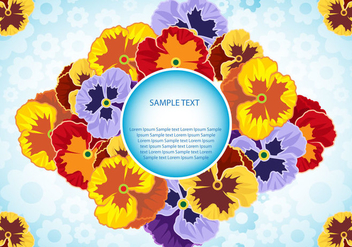 Pansy Flowers Vector illustration - Kostenloses vector #392389