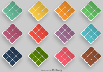 Ketupat Symbol Vector Icons - Free vector #392589
