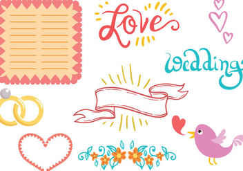 Free Wedding Planner Vectors - бесплатный vector #392649