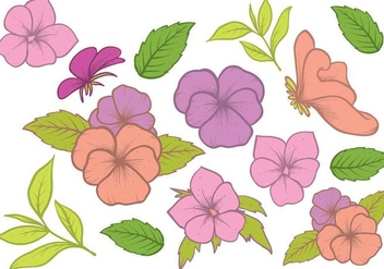 Free Hand Drawn Pansy Vector - Free vector #392889
