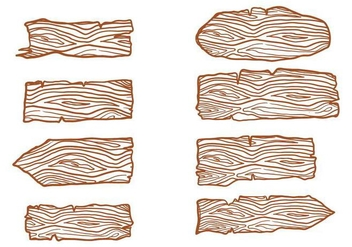 Free Wood Logs Sign Vectors - vector #393019 gratis