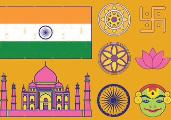 Onam Festival Icons - Free vector #393059