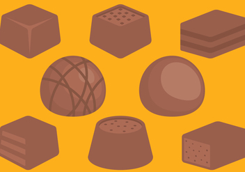Chocolate Candies - Kostenloses vector #393089
