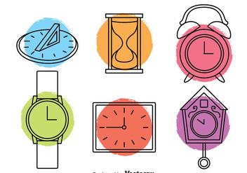 Clock Icons Vector - Kostenloses vector #393239