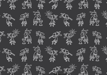 Kokopeli Pattern - Free vector #393249
