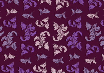 Vintage Acanthus Purple Pattern - Free vector #393259
